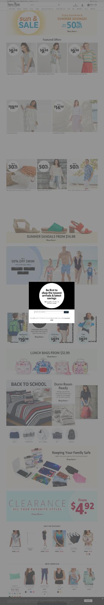 Stein Mart, Inc. Website Screenshot