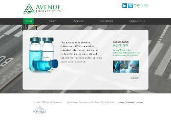 Avenue Therapeutics, Inc. Website Screenshot