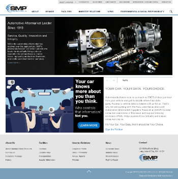 Standard Motor Products, Inc. Website Screenshot