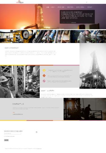 Sundance Energy Inc. Website Screenshot