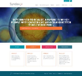 Syndax Pharmaceuticals, Inc. Website Screenshot