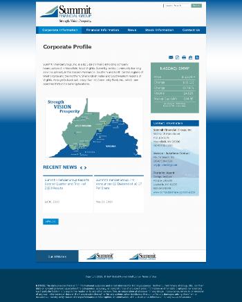 Summit Financial Group, Inc. Website Screenshot