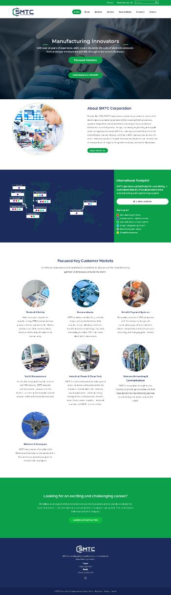 SMTC Corporation Website Screenshot