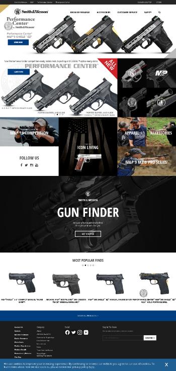 Smith & Wesson Brands, Inc. Website Screenshot