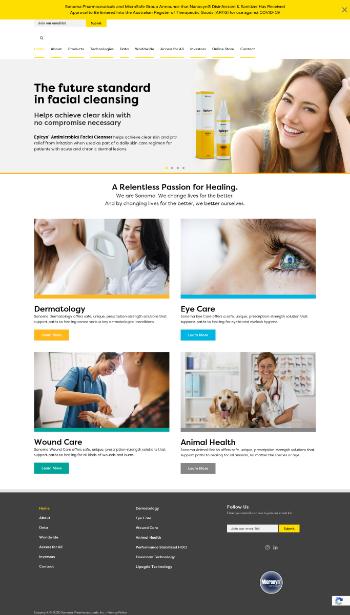 Sonoma Pharmaceuticals, Inc. Website Screenshot