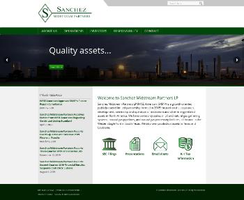 Sanchez Midstream Partners LP Website Screenshot