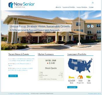 New Senior Investment Group Inc. Website Screenshot