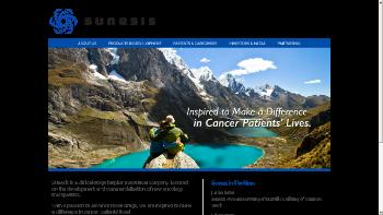 Sunesis Pharmaceuticals, Inc. Website Screenshot