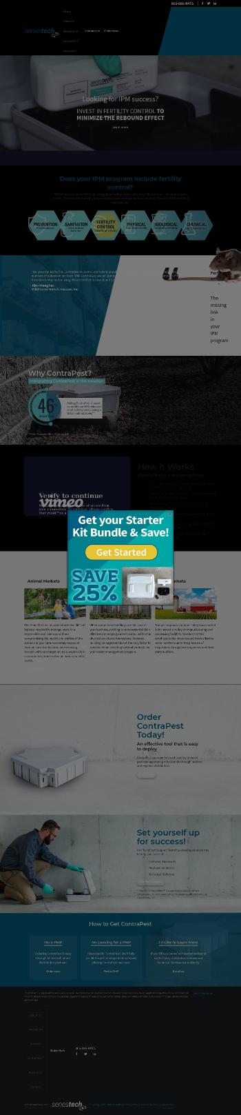 SenesTech, Inc. Website Screenshot