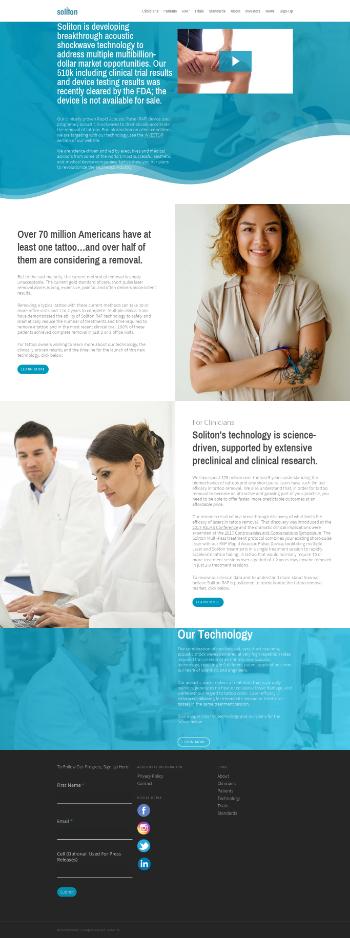 Soliton, Inc. Website Screenshot
