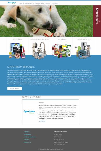 Spectrum Brands Holdings, Inc. Website Screenshot