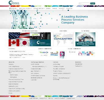 SYNNEX Corporation Website Screenshot