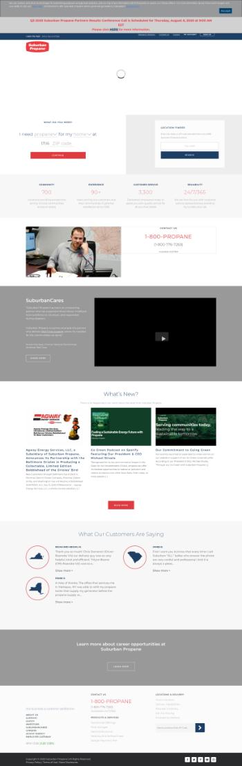 Suburban Propane Partners, L.P. Website Screenshot