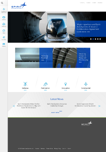 Spirit AeroSystems Holdings, Inc. Website Screenshot