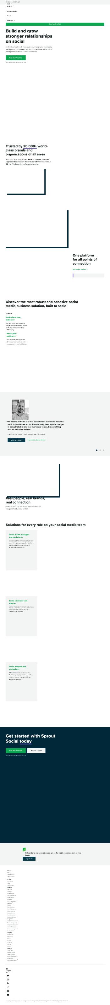 Sprout Social, Inc. Website Screenshot