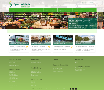 SpartanNash Company Website Screenshot