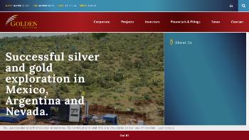 Golden Minerals Company Website Screenshot