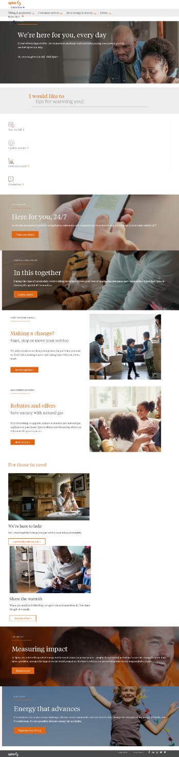 Spire Inc. Website Screenshot