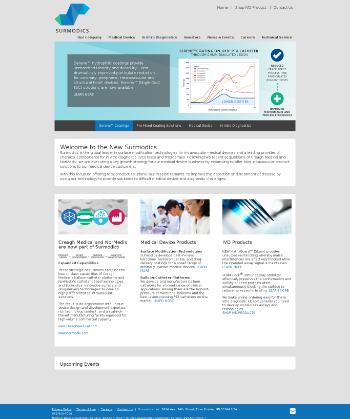 Surmodics, Inc. Website Screenshot