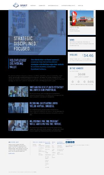 Spirit Realty Capital, Inc. Website Screenshot