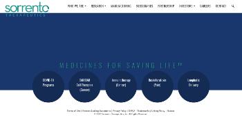 Sorrento Therapeutics, Inc. Website Screenshot