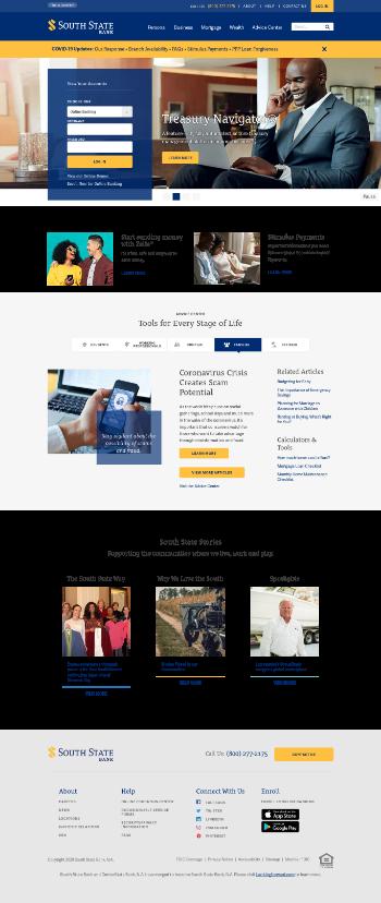 South State Corporation Website Screenshot