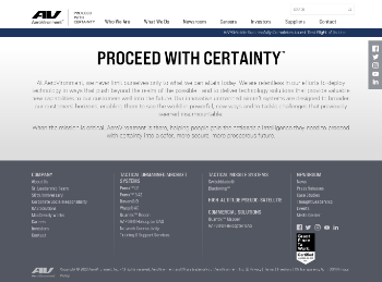 AeroVironment, Inc. Website Screenshot