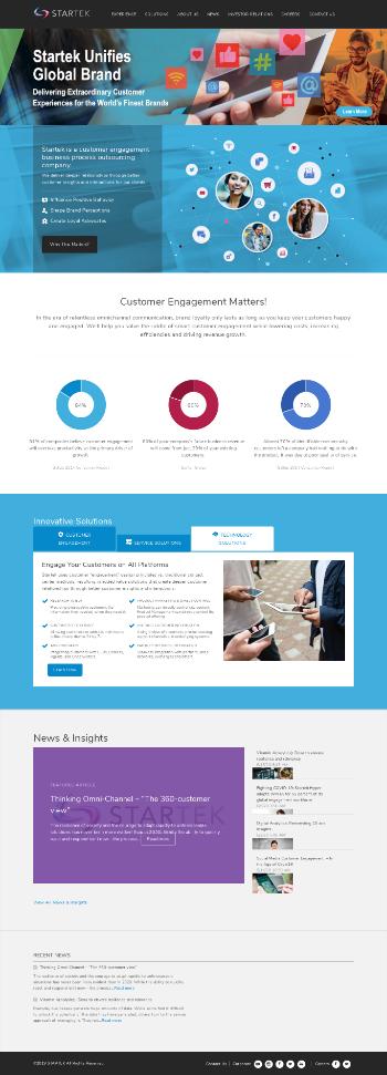 StarTek, Inc. Website Screenshot