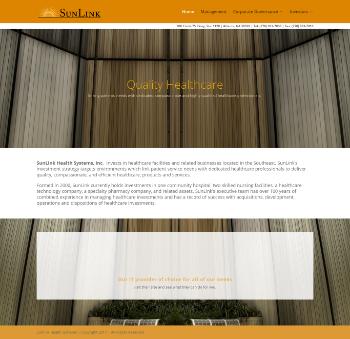 SunLink Health Systems, Inc. Website Screenshot