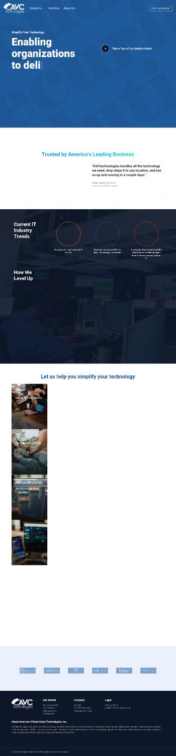 American Virtual Cloud Technologies, Inc. Website Screenshot
