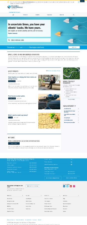 Columbia Seligman Premium Technology Growth Fund Website Screenshot