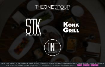 The ONE Group Hospitality, Inc. Website Screenshot
