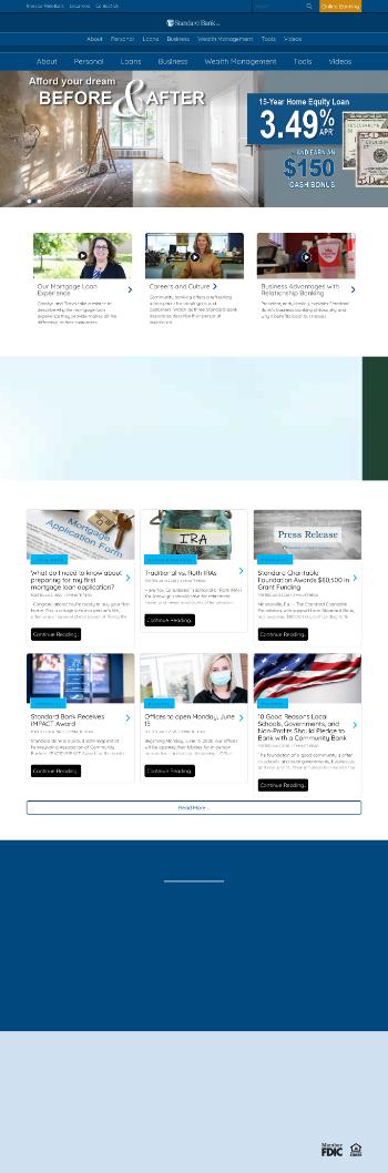 Standard AVB Financial Corp. Website Screenshot