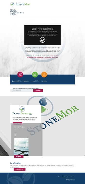 StoneMor Inc. Website Screenshot