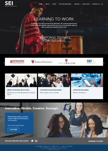 Strategic Education, Inc. Website Screenshot