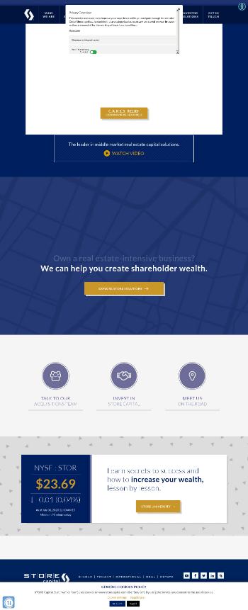 STORE Capital Corporation Website Screenshot
