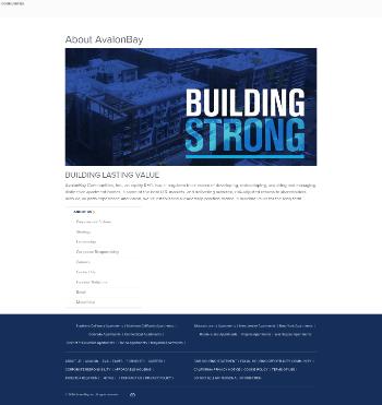 AvalonBay Communities, Inc. Website Screenshot