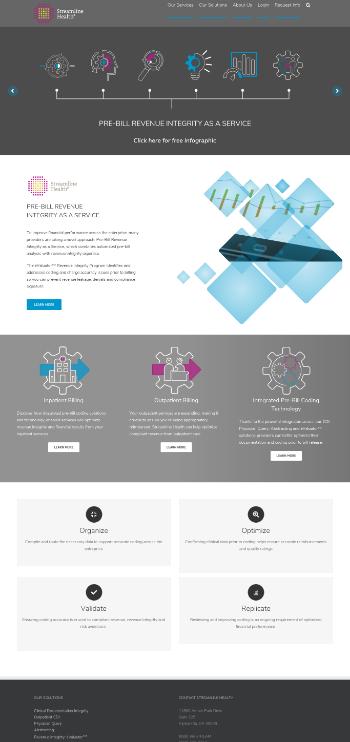 Streamline Health Solutions, Inc. Website Screenshot