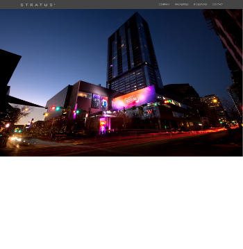 Stratus Properties Inc. Website Screenshot