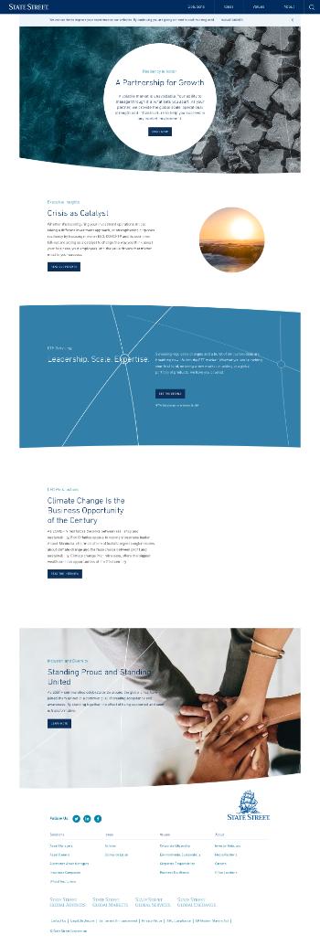 State Street Corporation Website Screenshot