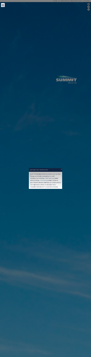Summit Materials, Inc. Website Screenshot