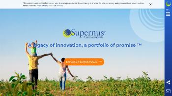Supernus Pharmaceuticals, Inc. Website Screenshot