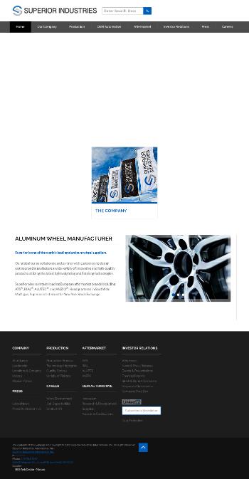 Superior Industries International, Inc. Website Screenshot