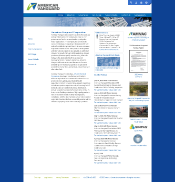 American Vanguard Corporation Website Screenshot