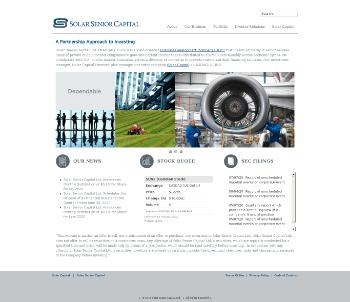 Solar Senior Capital Ltd. Website Screenshot