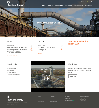 SunCoke Energy, Inc. Website Screenshot