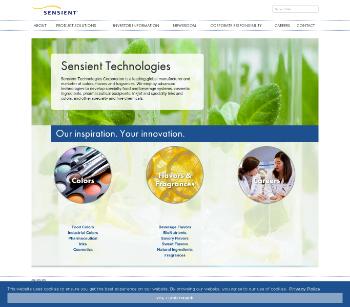 Sensient Technologies Corporation Website Screenshot