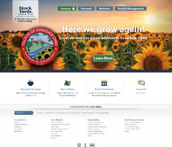 Stock Yards Bancorp, Inc. Website Screenshot