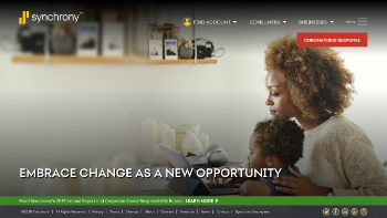 Synchrony Financial Website Screenshot