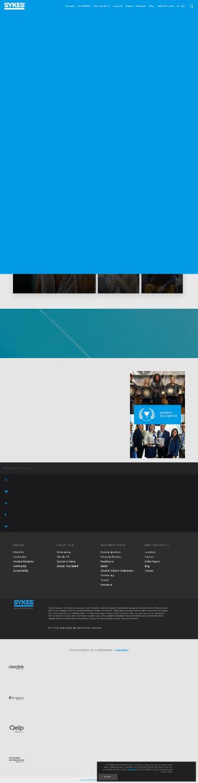 Sykes Enterprises, Incorporated Website Screenshot